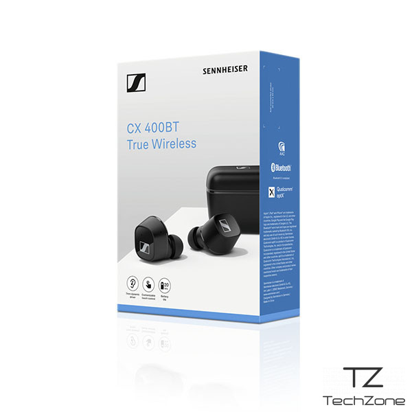 Bluetooth гарнитура Sennheiser CX 400BT True Wireless Black 6 – techzone.com.ua