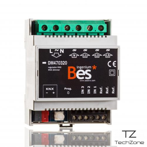 Bes RK3x500W-channel proportional actuator, triac dimmer with KNX control 2 – techzone.com.ua